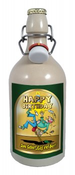 Happy birthday 2 0 5 liter tonflasche bier mit for Fenster 06188 landsberg