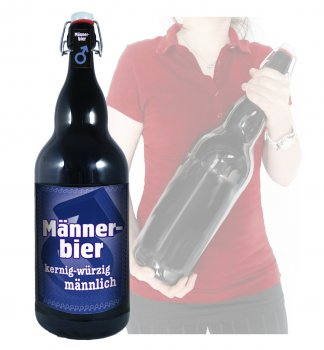 m nner bier 3 liter xxl flasche bier mit b gelverschluss. Black Bedroom Furniture Sets. Home Design Ideas