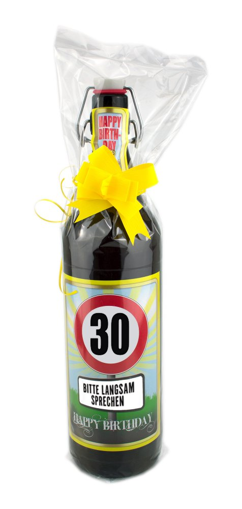 30 jahre 1 liter flasche mit edlem pils biergeschenke onlineshop. Black Bedroom Furniture Sets. Home Design Ideas