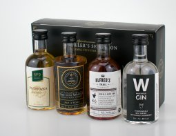 No. 9 Distiller´s Selection Kennenlernpaket mit Whisky, Rum, Gin und Bierbrand 4er mini´s
