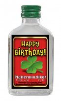 Happy Birthday - Pfefferminzlikör Flachmann