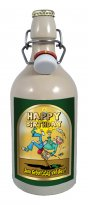 Happy Birthday (2) 0,75 Liter Tonflasche mit edlem Pils